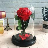 安琪拉永生花成品玻璃罩禮盒母親節生日禮物