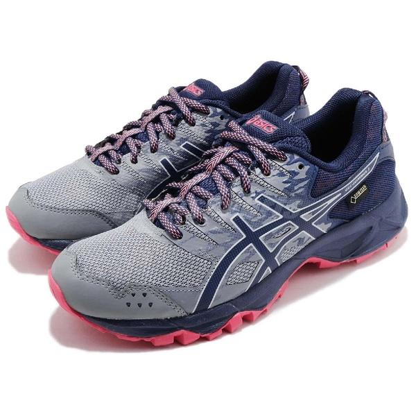 Asics 慢跑鞋 Gel-Sonoma 3 GTX 三代 Gore-Tex 藍 深藍 戶外 運動鞋 防水 女鞋【ACS】 T777N020