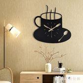 掛鐘現代簡約家居鐵藝掛鐘墻壁鐘表客廳餐廳裝飾靜音創意時鐘掛鐘 LH2645【3C環球數位館】