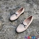牛津鞋 外貿英倫風秋季小皮鞋大碼金屬裝飾學院風低跟圓頭牛津單鞋 女鞋 寶貝計畫