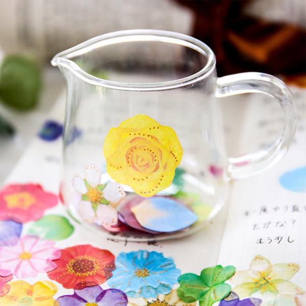 【BlueCat】迷幻蝴蝶結香水瓶花朵貼紙包