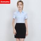 白色襯衫女短袖2017新款韓范職業裝工作服
