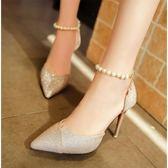 高跟鞋 涼鞋女夏季高跟鞋女細跟韓版休閒女鞋子女學生網紅單鞋女 Cocoa