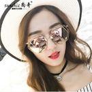 太陽金屬大框墨鏡女多邊形眼鏡HL4255『愛尚生活館』