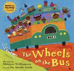 【麥克書店】THE WHEELS ON THE BUS /英文繪本附VCD 《主題:交通工具》