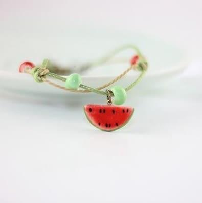 Star 陶藝系列 -「清涼一夏」可愛西瓜陶瓷手鏈-C16