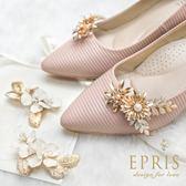 韓國直送手工獨家訂製 勇敢追求太陽花之戀 婚鞋推薦飾扣鞋夾