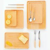 ins茶盤面包木質托盤北歐家用放茶盃的托盤創意現代簡約烘焙木頭 居享優品