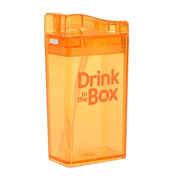 Drink in the Box Tritan兒童運動吸管杯/喝水杯/水壺-果凍橘