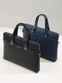 手提包男商務辦公電腦包休閒男士公事包簡約手拿側背斜背包LX聖誕交換禮物