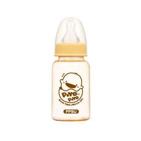黃色小鴨 媽咪乳感PPSU防脹氣奶瓶-標準口徑 140ml【德芳保健藥妝】