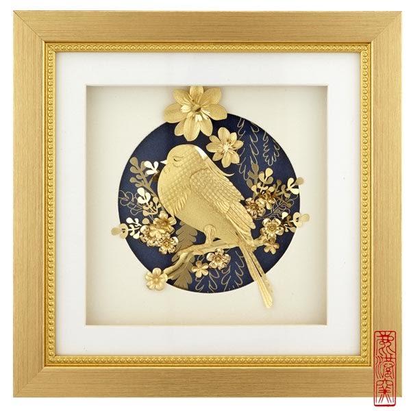 鹿港窯~立體金箔畫-真愛系列【怡然自樂】雅鑑鑫品