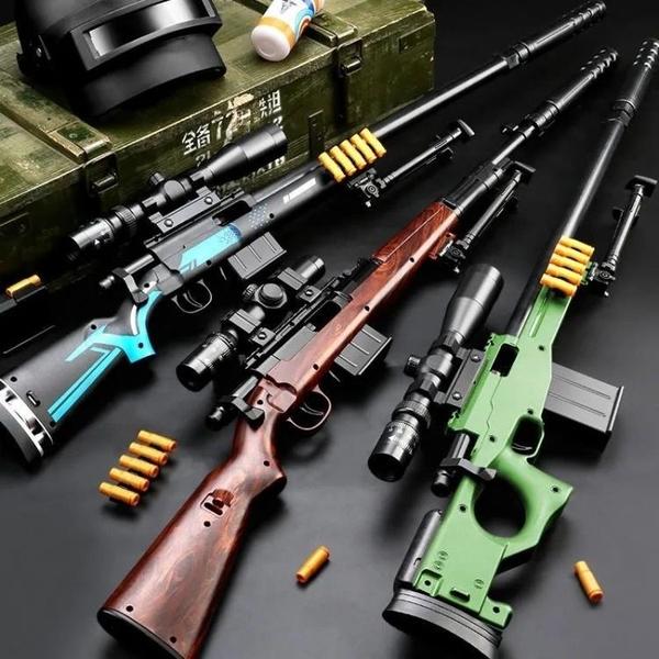 玩具槍 awm98k兒童玩具槍拋殼軟彈和平精英吃雞槍支類仿真下供男孩狙擊槍