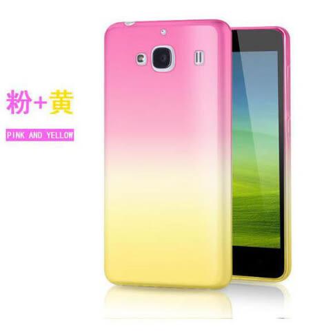 [24hr 火速出貨] 三星 時尚 漸變 手機殼 彩紅 雙色 超薄手機套 保護殼 透明 軟殼 Samsung A8 note5