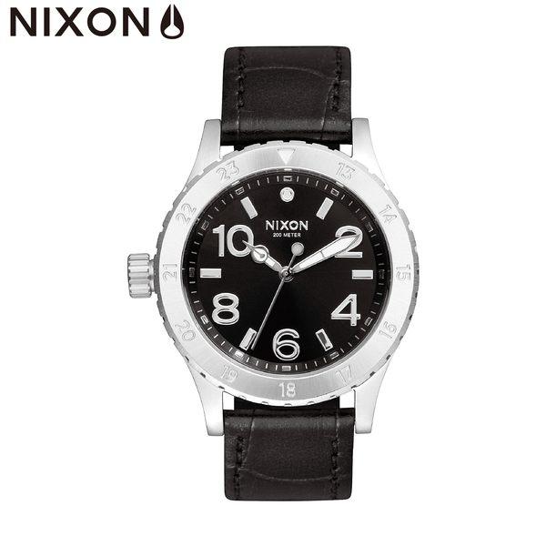 NIXON手錶 原廠總代理 A467-1886 38-20 Leather 潮流時尚黑皮錶帶 運動 生日 情人節禮物