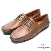 CUMAR 時尚樂活 經典綁帶帆船鞋-棕色
