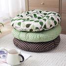 棉麻圓形坐墊辦公布藝座墊榻榻米沙發靠墊圓...