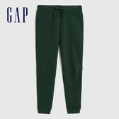 Gap男裝 簡約風格基本款鬆緊針織褲 618887-松樹綠