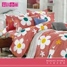 【貝淇小舖】柔細纖維印染 / 花香動人(雙人加大床包+2枕套)共三件組