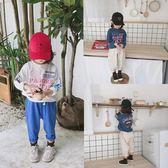 大耳象童裝鋪女童字母印花大學T2018秋季新款時尚韓版長袖套頭上衣  無糖工作室