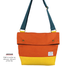 橘色帆布側背包   AMINAH~【am-0272】