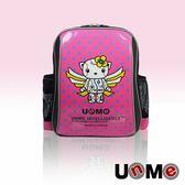UNME 鏡面 機器天使 反光條 透氣減壓背帶 書包 後背包 台灣製造 3037B