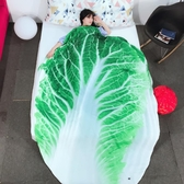 白菜兒童夏涼被空調被卡通蔬菜薄被子可水洗雙人夏被學生夏季被子 潮流衣舍