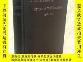 二手書博民逛書店薩克雷書信集罕見:A collections of letter