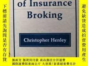 二手書博民逛書店The罕見Law of Insurance BroKing 【精