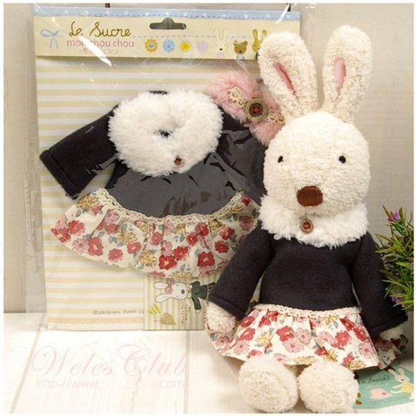 【發現。好貨】日本正品 le sucre 砂糖兔 法國兔娃娃(冬季圍巾60公分款)