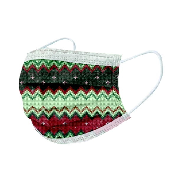 文賀生技醫用口罩 (未滅菌)-三層醫療口罩-編織夢想系列-奇幻綠野 30入/盒