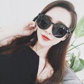 太陽眼鏡 墨鏡女2018新款潮黑色圓臉顯瘦韓版個性時尚簡約偏光太陽鏡TL38【大尺碼女王】