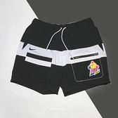 NIKE 短褲 NSW HYPERFLAT 黑白 可愛圖案 抽繩 拼接 工裝 男 (布魯克林) DM7919-014