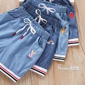 女童牛仔短褲新款純棉寶寶外穿百搭洋氣薄款男童兒童褲子夏裝 Korea時尚記