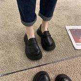 單鞋女2020秋季新款英倫風小皮鞋秋冬百搭粗跟圓頭中跟日系樂福鞋 【端午節特惠】