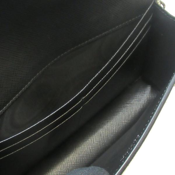 PRADA 普拉達 黑色防刮牛皮兔子香蕉圖案銀鏈帶包 Shoulder Bag 1DH044 【BRAND OFF】