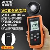 勝利旗艦店 自動量程照度計VC1010A 測光表 照度儀 亮度表 照度 極速出貨