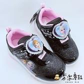 【樂樂童鞋】【台灣製現貨】冰雪奇緣運動燈鞋 F037 - 現貨 台灣製 女童鞋 運動鞋 大童鞋 布鞋