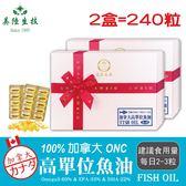 【美陸生技】100%加拿大ONC高純度TG型魚油【120粒/盒(禮盒),2盒下標處】AWBIO