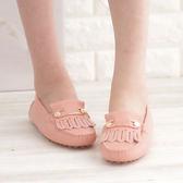 懶人鞋 休閒鞋 玫瑰粉 女鞋 真皮平底娃娃鞋《SV7096》HappyLife