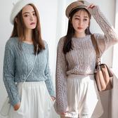 MIUSTAR 鏤空透膚短版針織上衣(共3色)【NH2124】預購