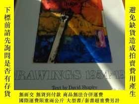 二手書博民逛書店2手英文罕見Jasper Johns Drawings 賈思培瓊