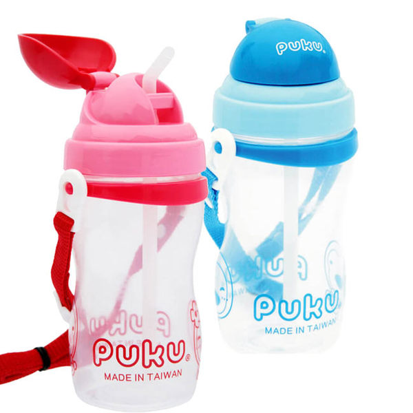 【奇買親子購物網】PUKU 水壺400CC(藍色/紅色)
