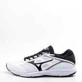 Mizuno  MAXIMIZER 21 寬楦  男慢跑鞋-白/黑 K1GA190010