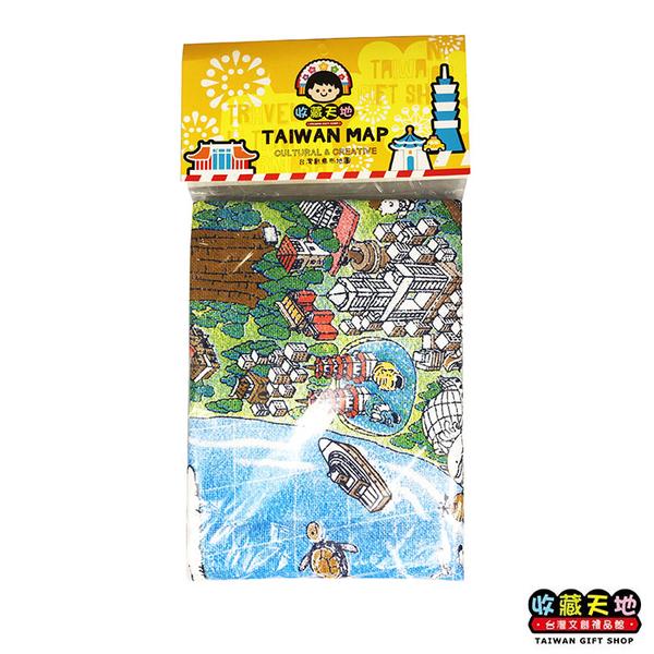 【收藏天地】台灣紀念品*台灣創意布地圖-台灣島 ∕  掛布 裝飾 送禮 文創 風景 觀光 禮品