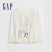 Gap女幼童 迪士尼冰雪奇緣雪寶長袖T恤 618840-象牙白