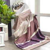 〔涼夏特惠〕義大利La Belle《爵士風範》純棉吸濕透氣涼被(5x6.5尺)