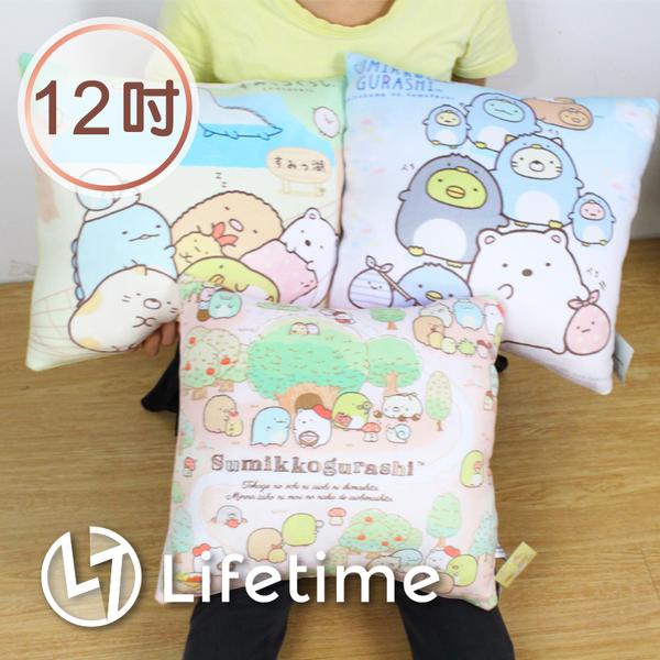 ﹝角落生物正方型抱枕12吋﹞正版 絨毛娃娃 坐墊 靠枕 方枕 白熊 30cm〖LifeTime一生流行館〗B16332