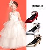 女童公主鞋春季兒童高跟鞋細跟主持禮服鞋女孩舞臺鋼琴表演出皮鞋 幸福第一站