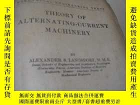 二手書博民逛書店THEORY罕見OF ALTERNATING-CURRENT M